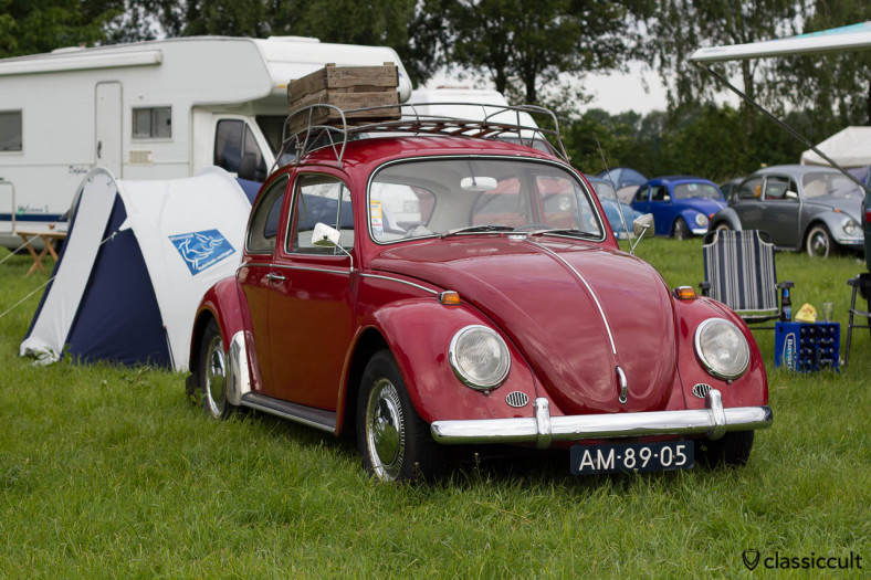 """VW 1300 from Nederland with accessories like roof rack, mudflap, Frese mirror, rear """"S"""" Sweden sticker (possible a Sweden Import)"""