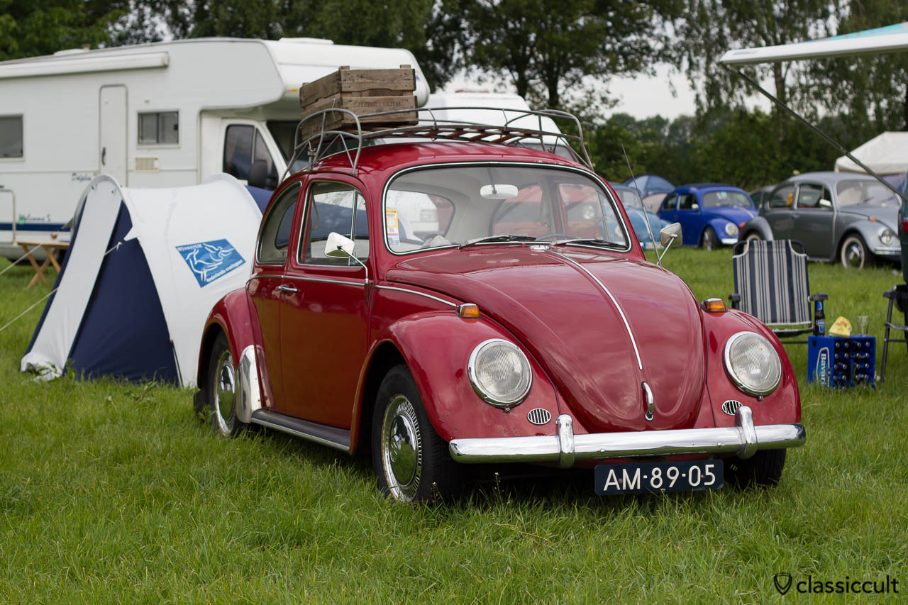 "VW 1300 from Nederland with accessories like roof rack, mudflap, Frese mirror, rear ""S"" Sweden sticker (possible a Sweden Import)"