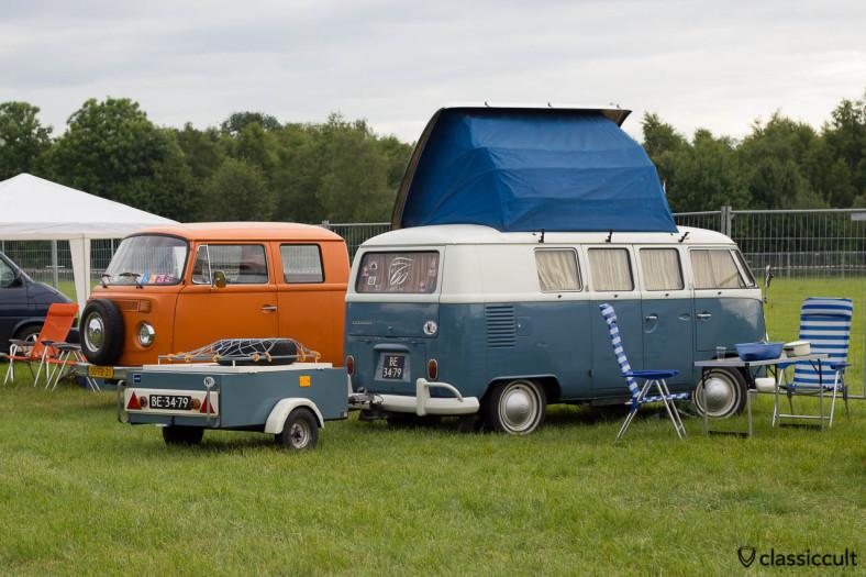 1964 Dormobile VW T1 Camper from Nederland with camping trailer