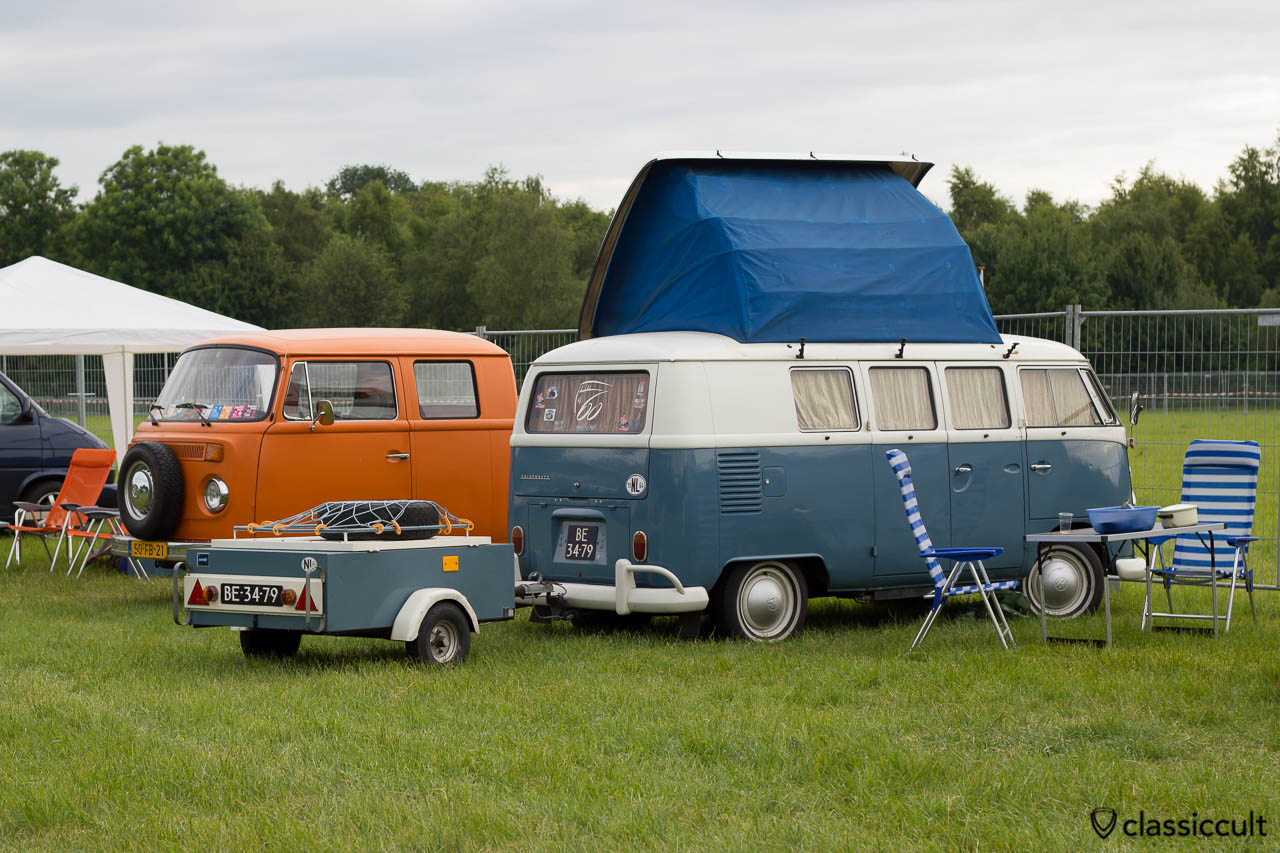 1964 Dormobile VW T1 Camper from Nederland with camping trailer
