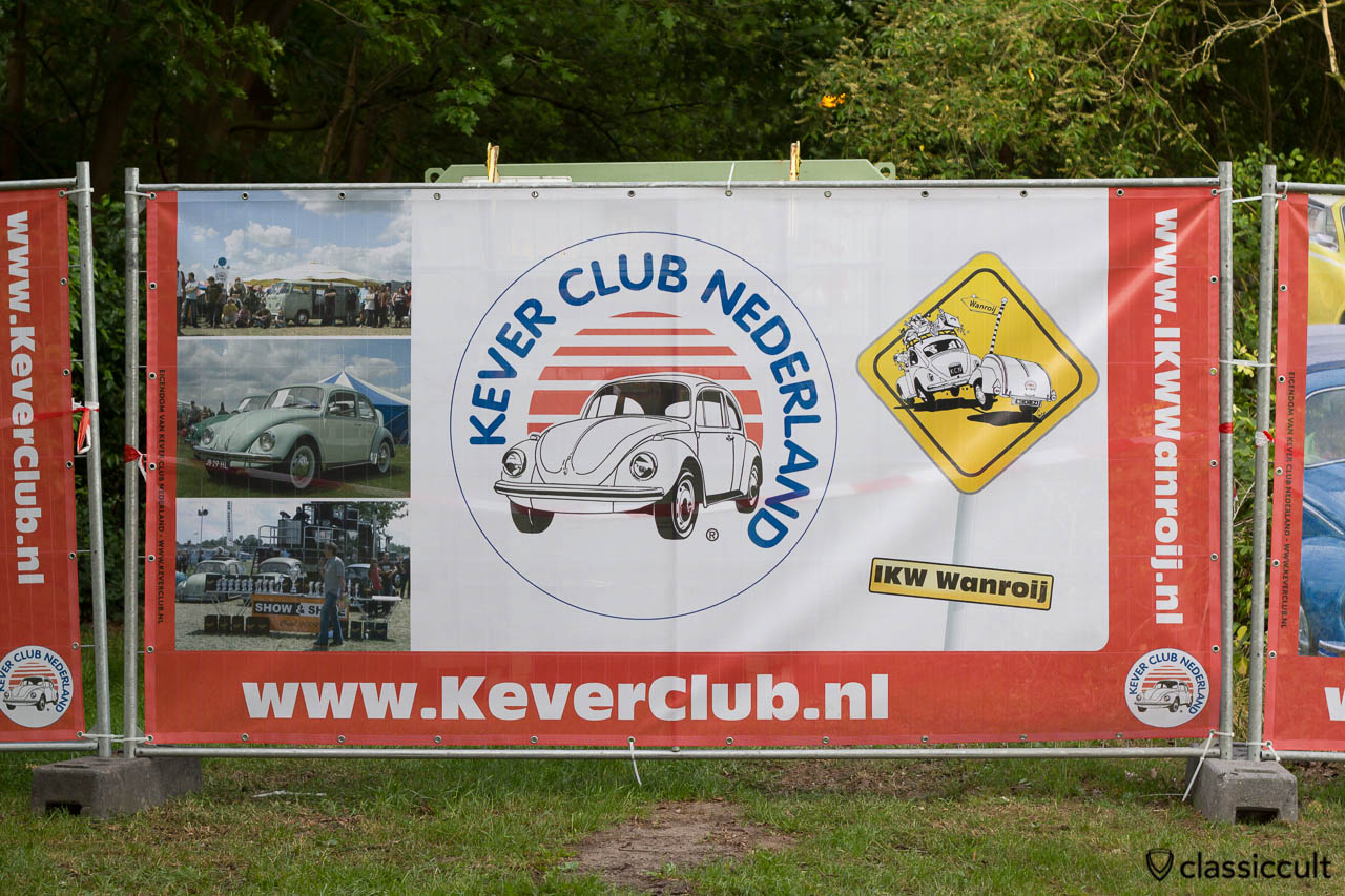 Internationaal Kever Weekend Wanroij advertising banner with VW Beetle, VW Bus Show & Shine and Kever Club Nederland