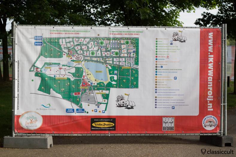 Internationaal Kever Weekend Wanroij advertising banner with IKW Wanroij Map