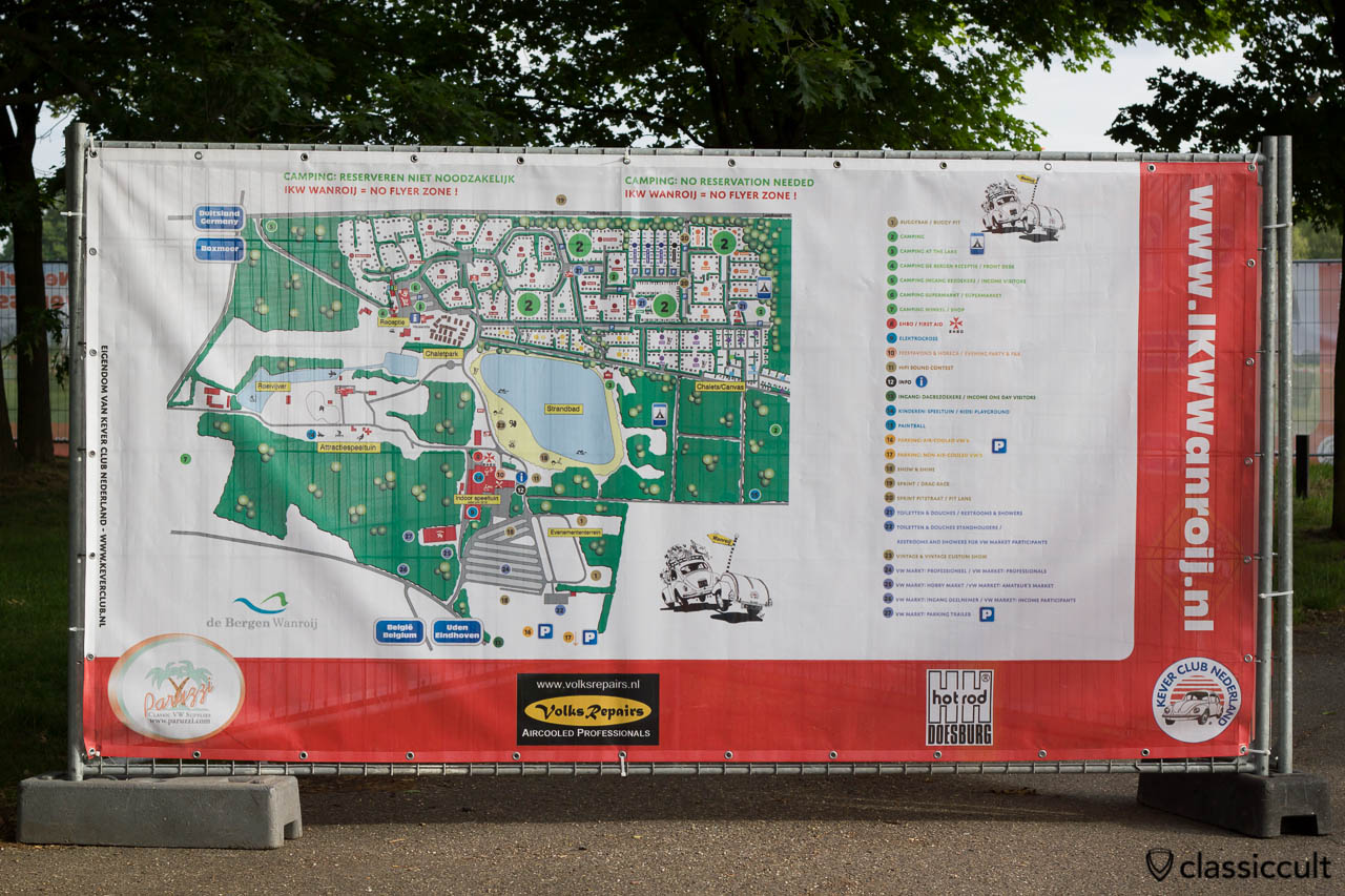 Internationaal Kever Weekend Wanroij advertising banner with IKW Wanroij Map