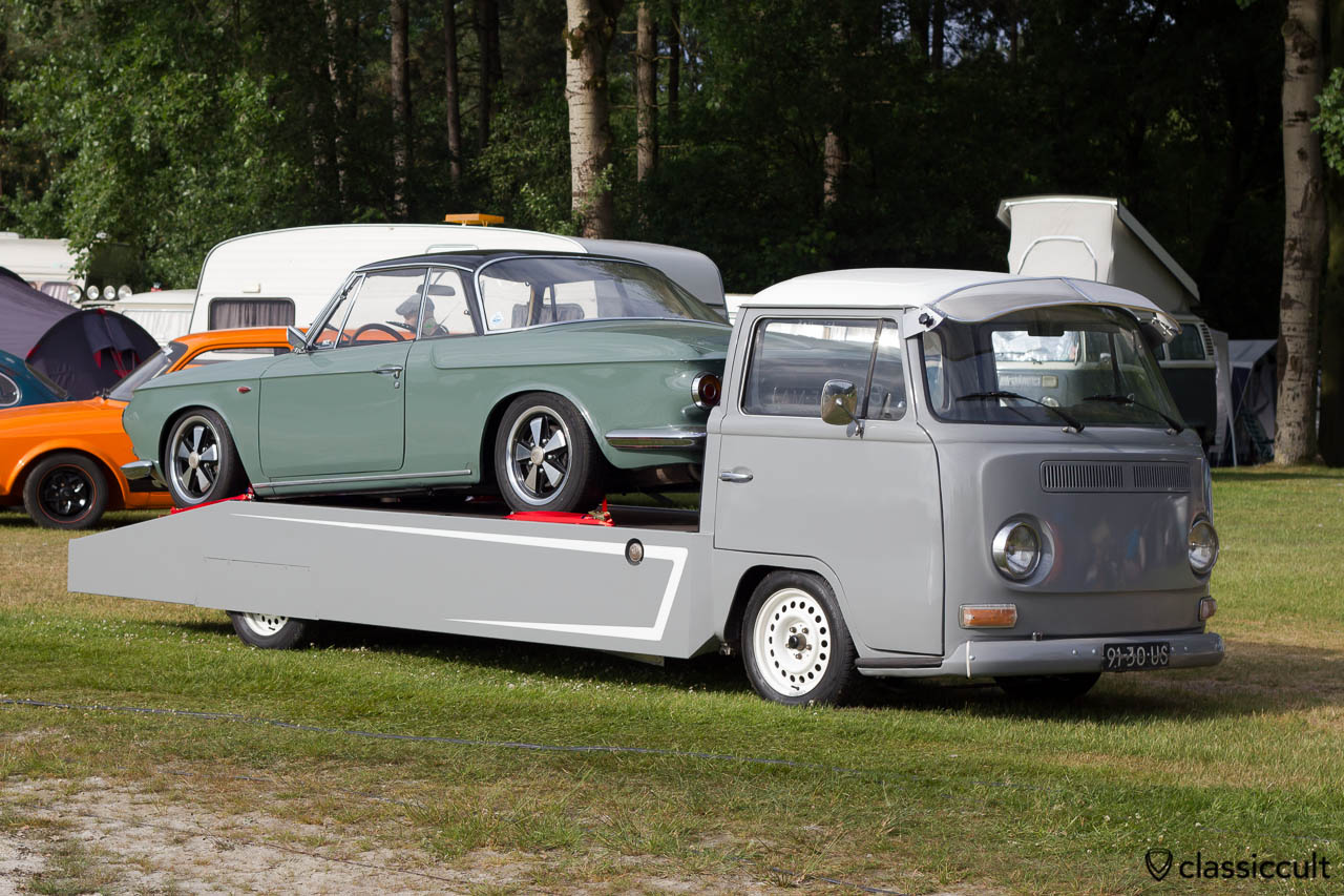 VW Single Cab pick-up truck with Karmann Ghia Typ 34, IKW Wanroij 2013
