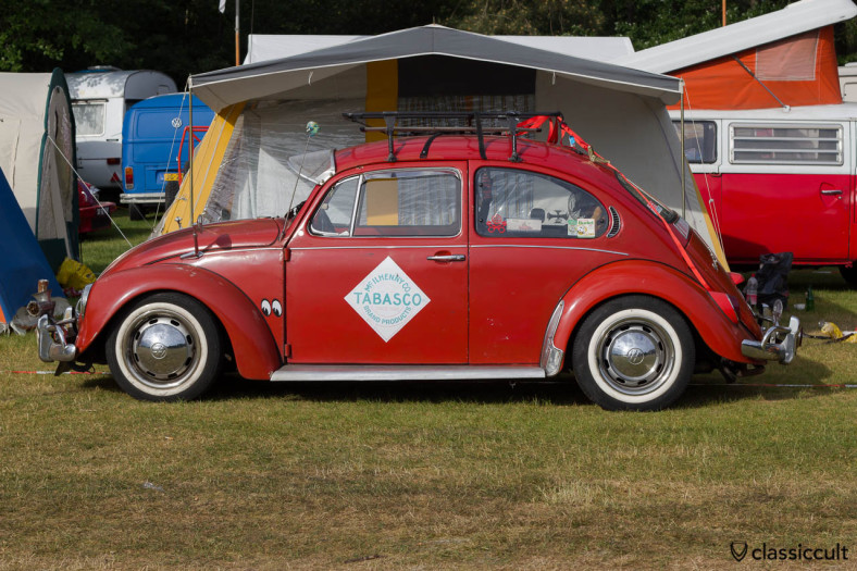 red VW Bug with Tabasco Advertisement, Kever Weekend 2013