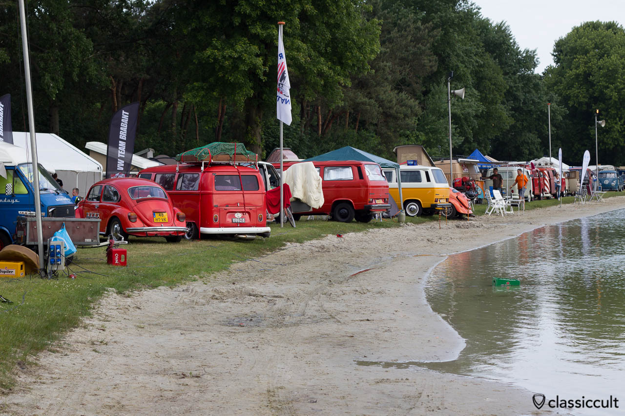 VWs at the lake of IKW Wanroij