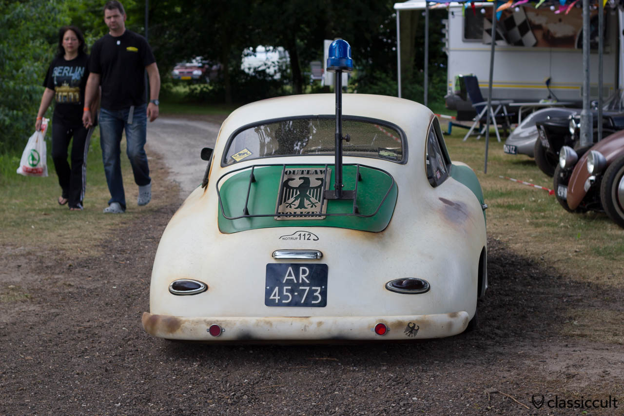 Porsche 356 Police Car backside