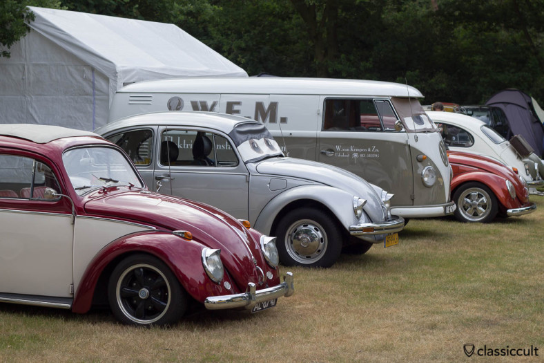 VW LineUp at IKW Wanroij Camp Site 2013