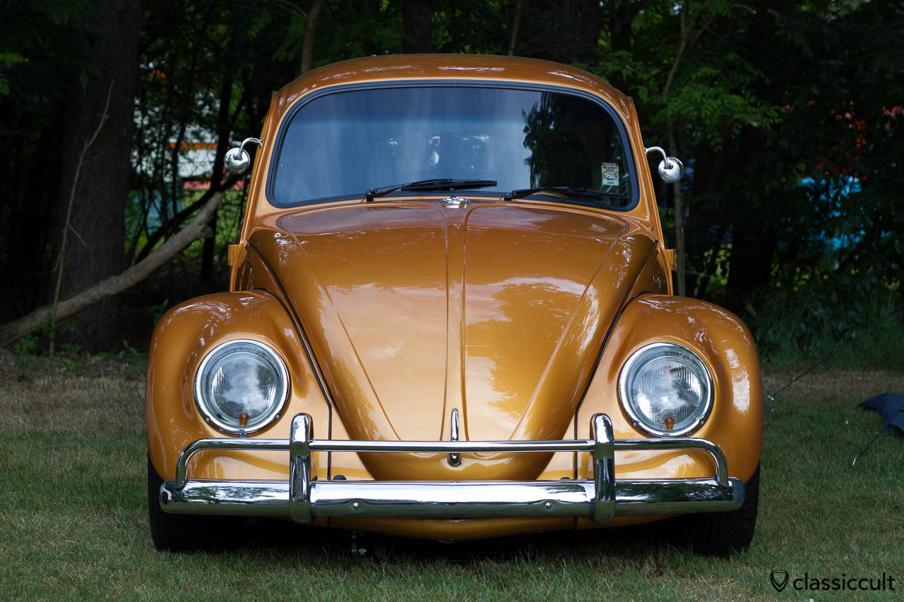 golden VW Split Bug