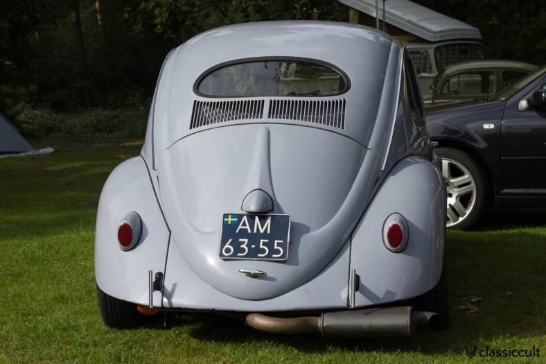 VW Oval Bug with special exhaust backside, Wanroij 2013