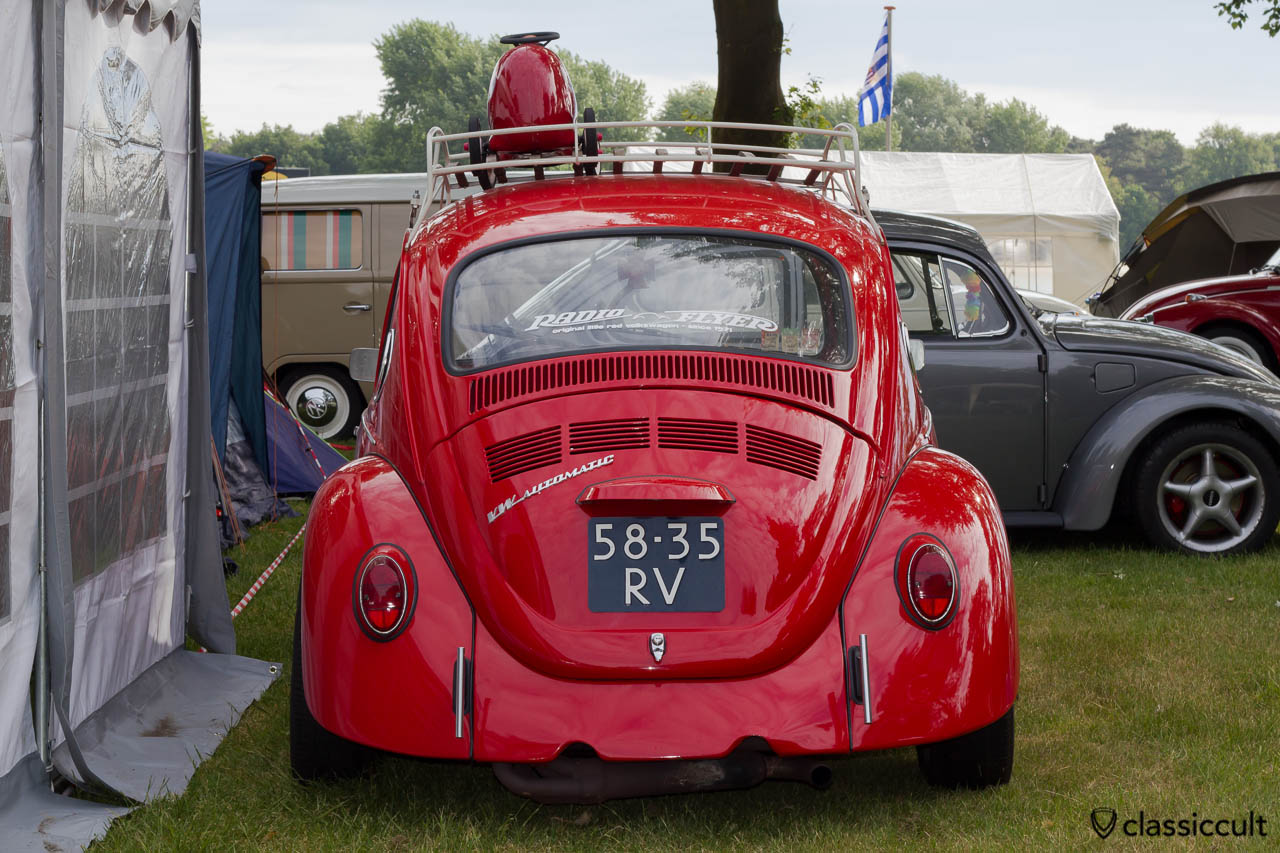 VW Beetle with Radio Flyer little Volkswagen Advertisement IKW 2013