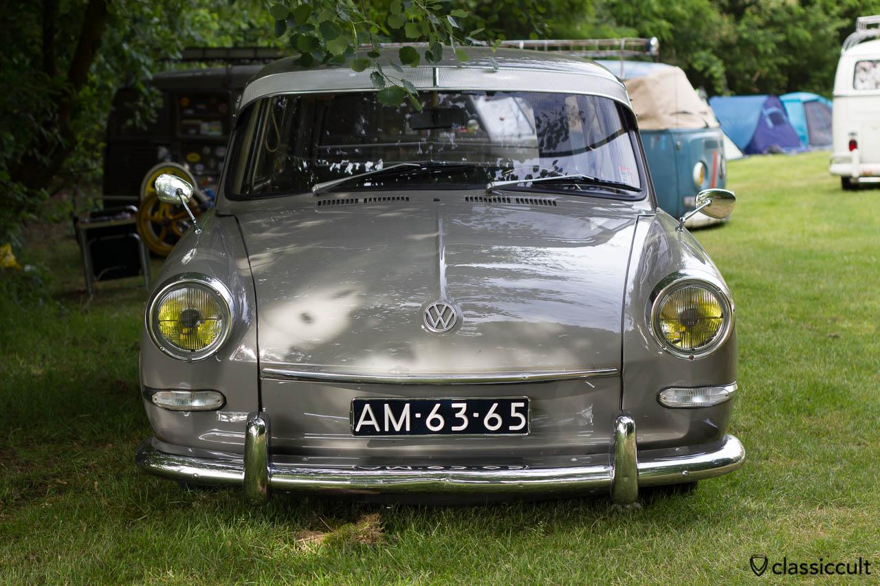 slammed VW Type 3 frontside, aircooled folks camp, IKW Wanroij 2013