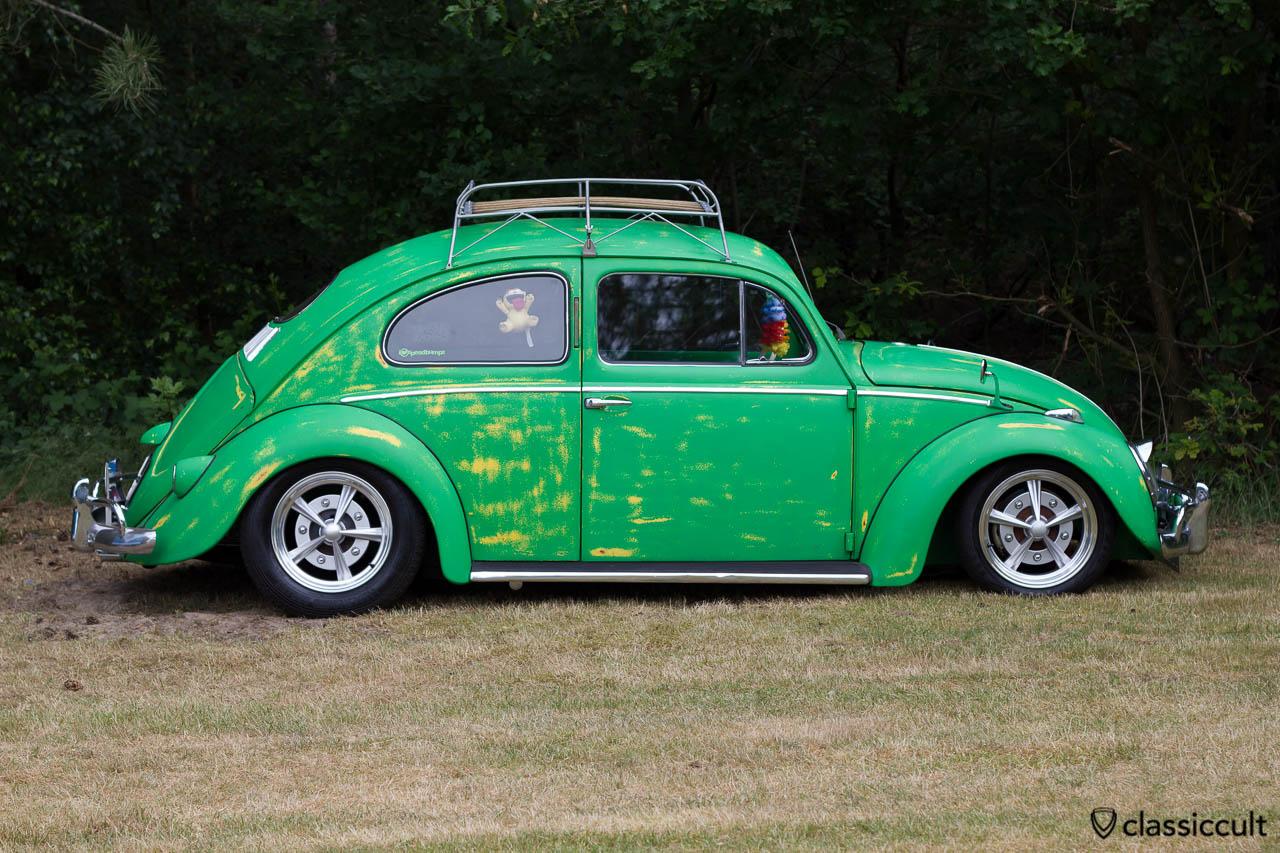 slammed VW Oval Kever, aircooled folks camp, IKW 2013