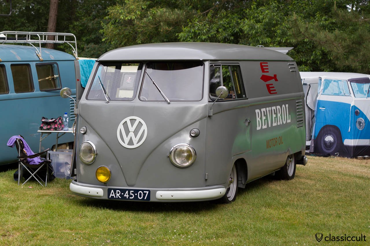 VW T1 BEVEROL MOTOR OIL Panel Van, aircooled folks camp, IKW 2013