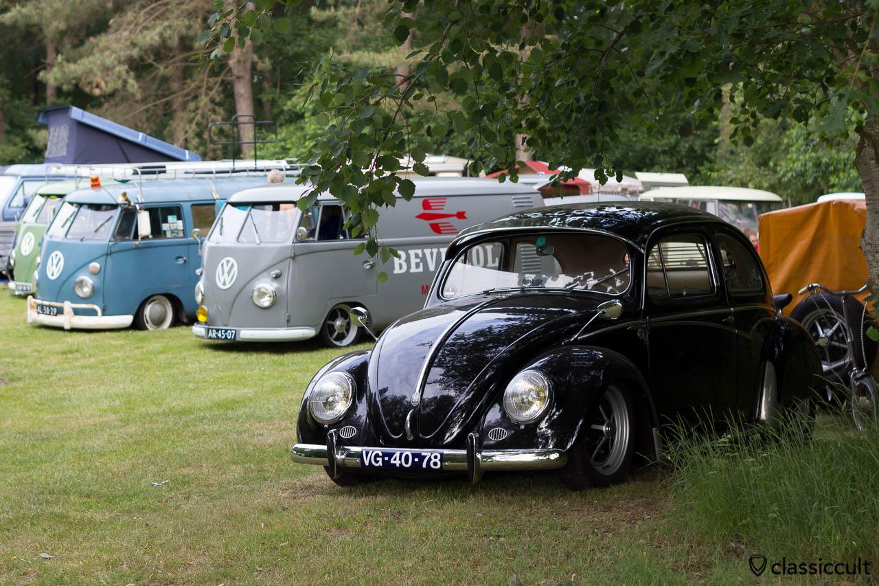 slammed VW Oval, aircooled folks camp, IKW Wanroij 2013