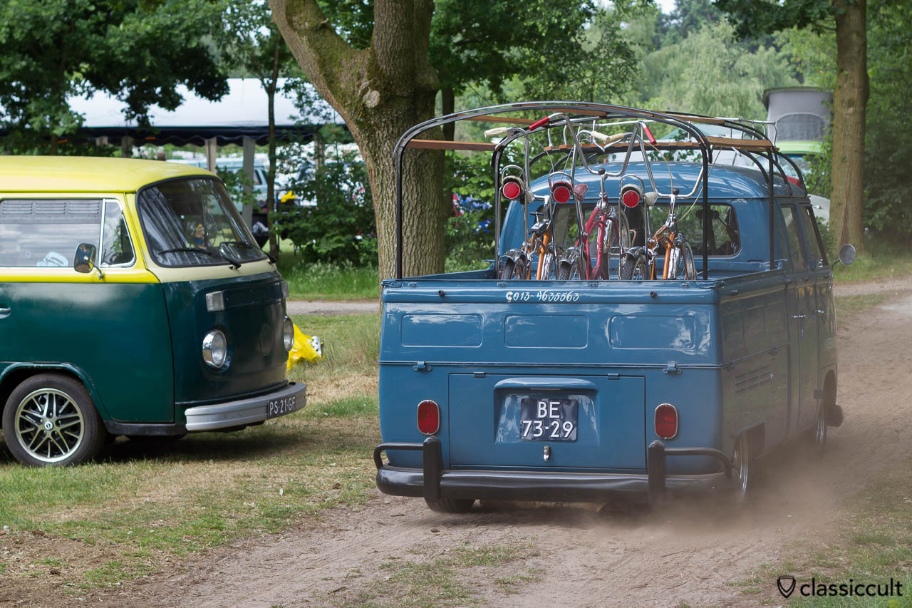 VW Split Bus Double Cab cruising around at IKW Wanroij 2013