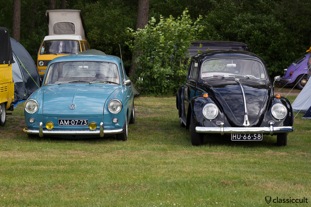 VW Type 3 and Bug at International Beetle Weekend (IKW)