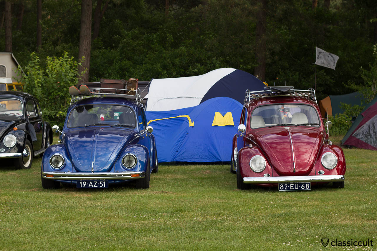 two VW Beetles with roof rack at IKW