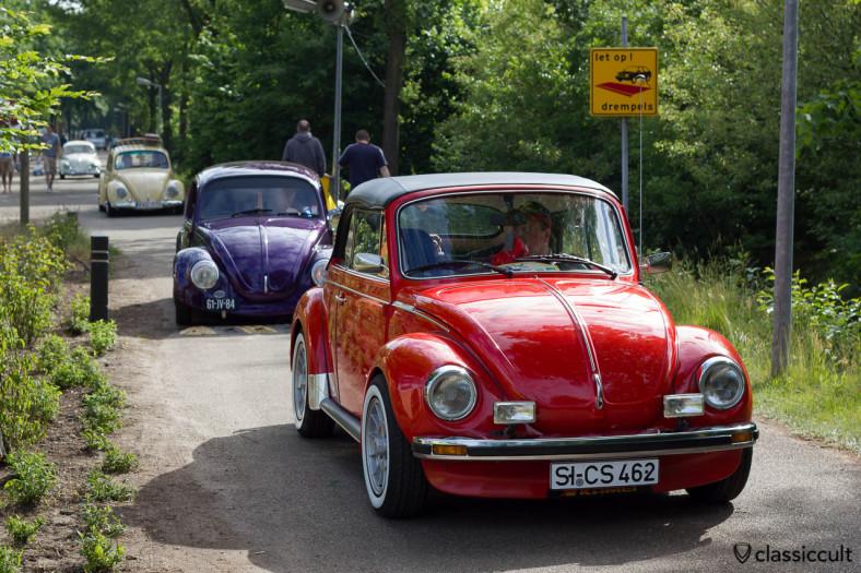 VW Beetles cruising around De Bergen Wanroij Camp Site