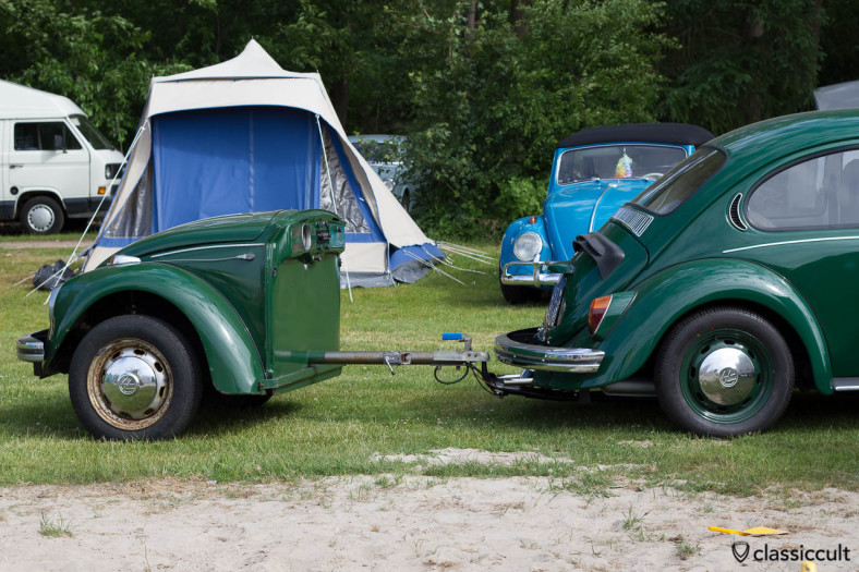 trailer made of the frontside of a VW Beetle