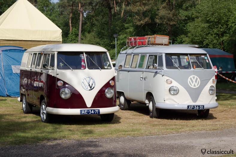 two VW T1 Kombi Splits