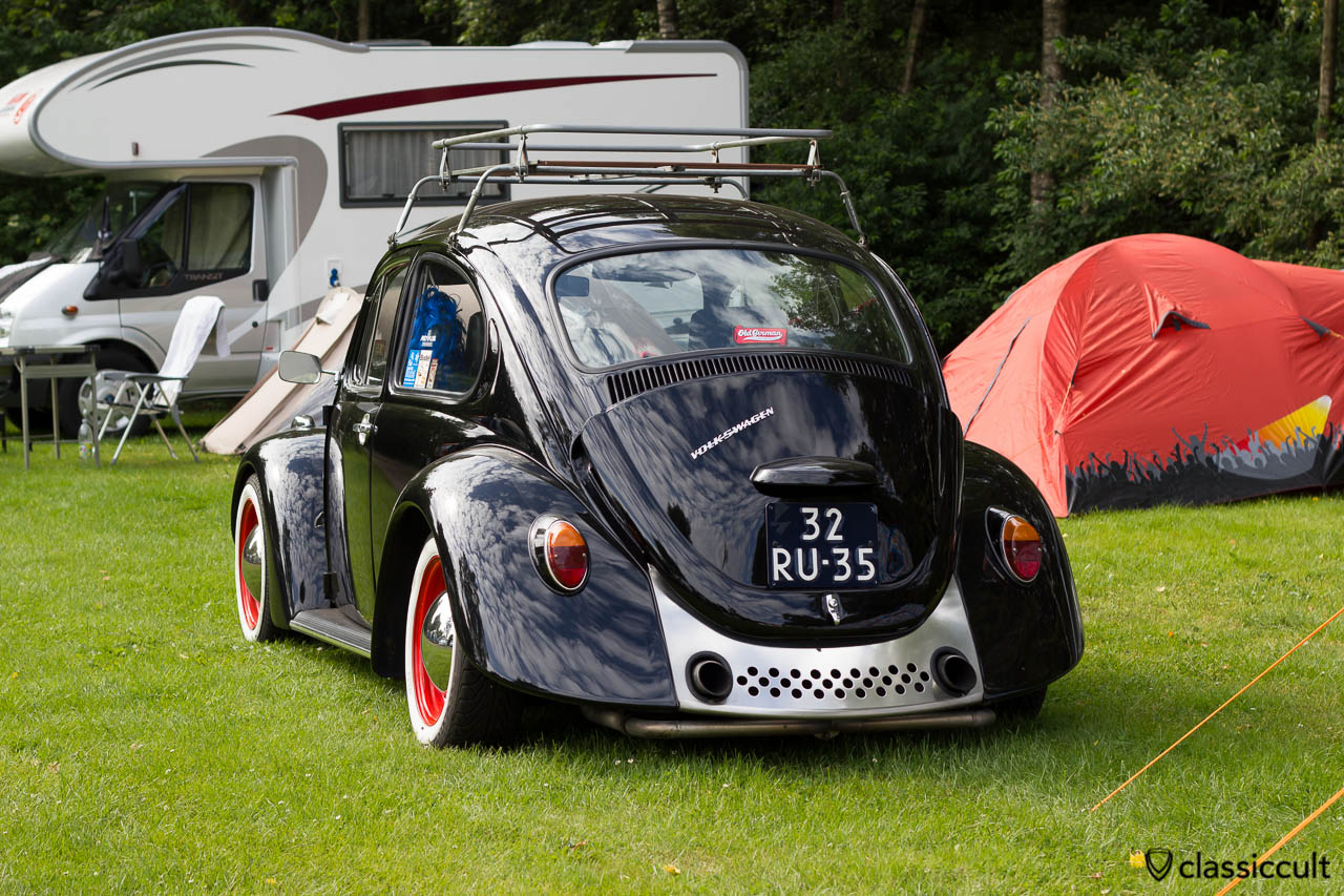 old German Volkswagen Beetle with power