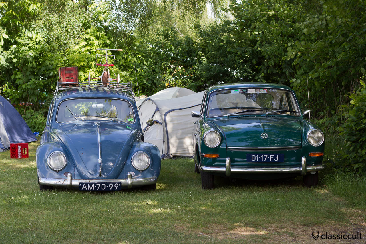 VW Beetle (slammed) and VW Type 3