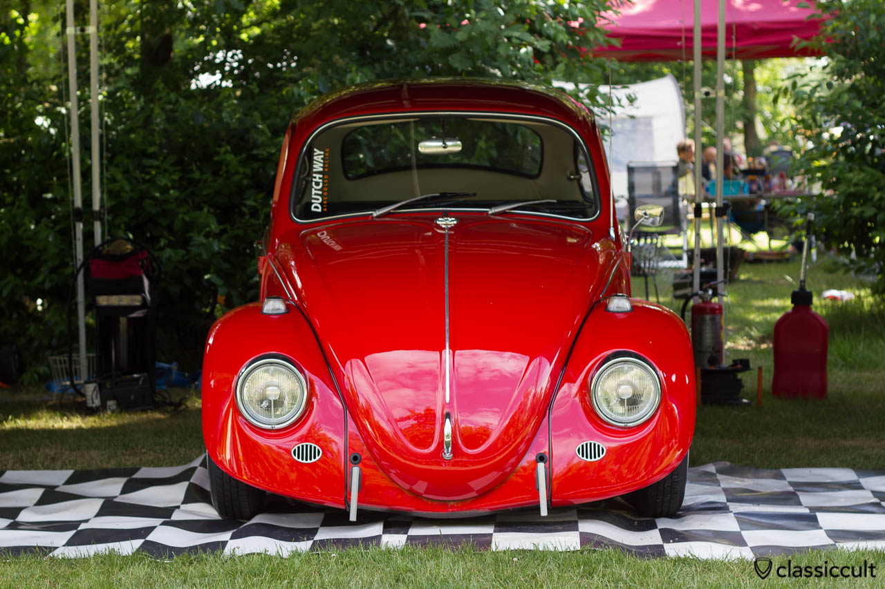 Dutch Way Aircooled Racing red VW Beetle