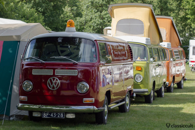 VW T2a Panel Bus from W.M. Autoservice Luchtgekoelde Volkswagen and two VW T2 Westy Camper