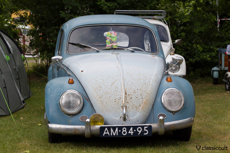 Patina VW Beetle with Albert Swan Neck Mirror