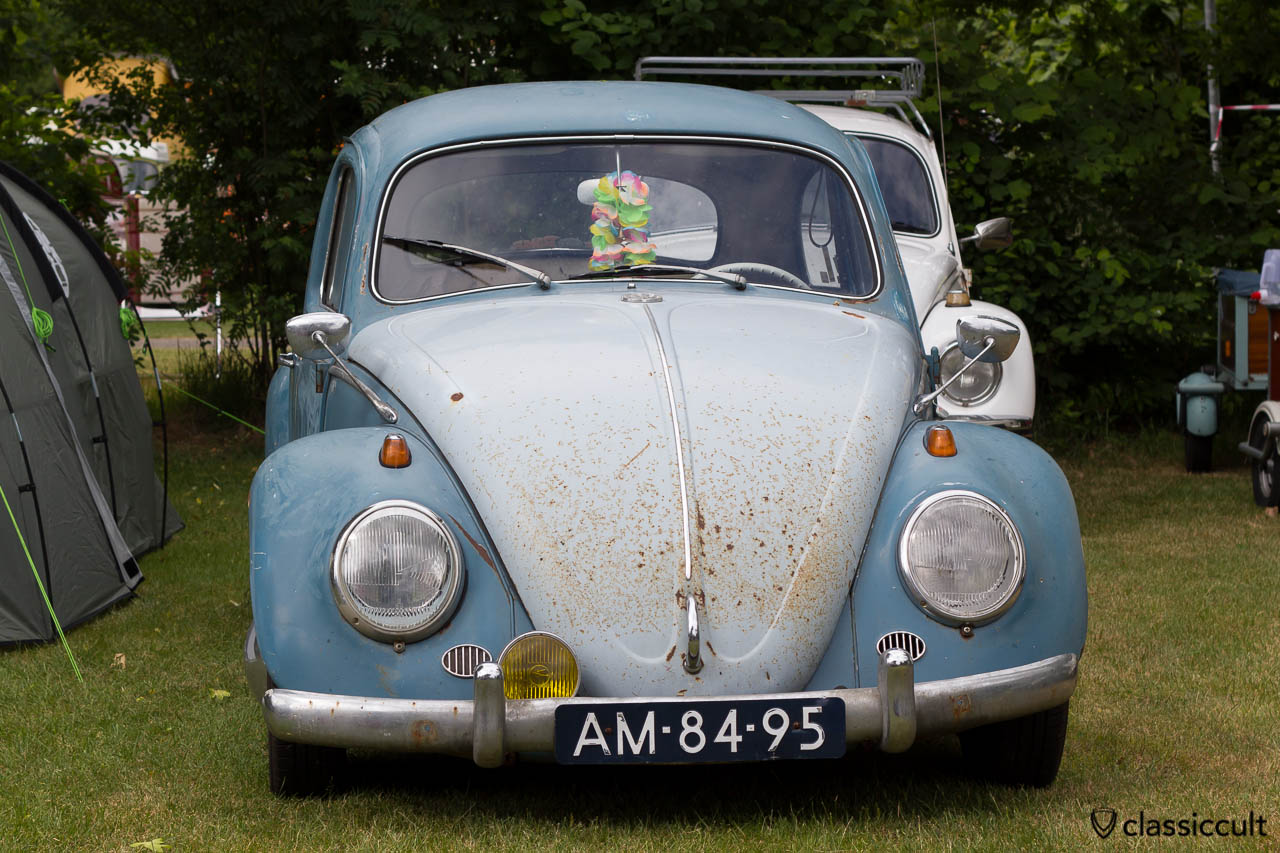 Patina VW Beetle with Albert Swan Neck Mirror