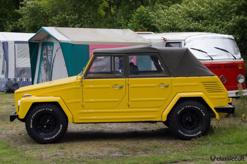 yellow VW 181 Thing