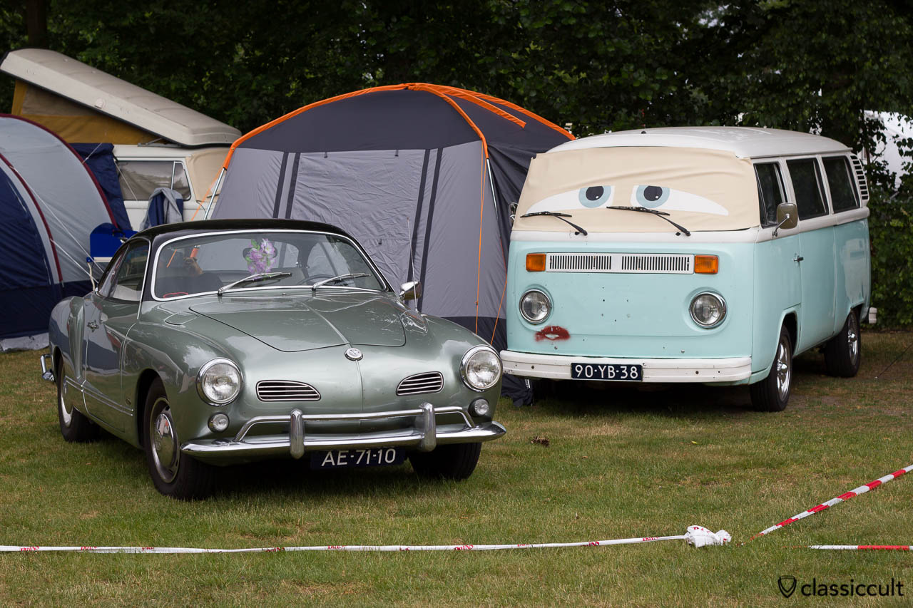 VW Karmann Ghia and Volkswagen Van