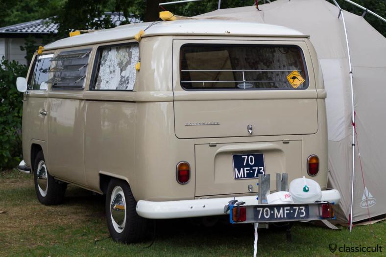 VW T2a Tin Top Camper and an interesting way to fix the caravan tent