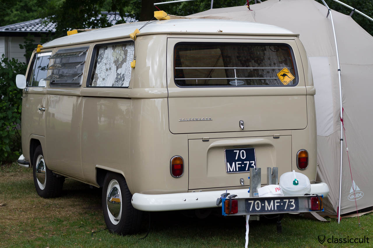 VW T2a Tin Top Camper and an interesting way to fix the caravan tent