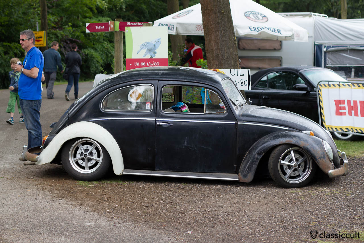 slammed rusty Volkswagen Bug