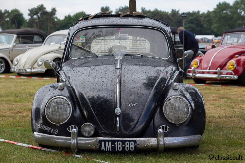 VW Bug with Wirbulator and Albert swan neck view mirror