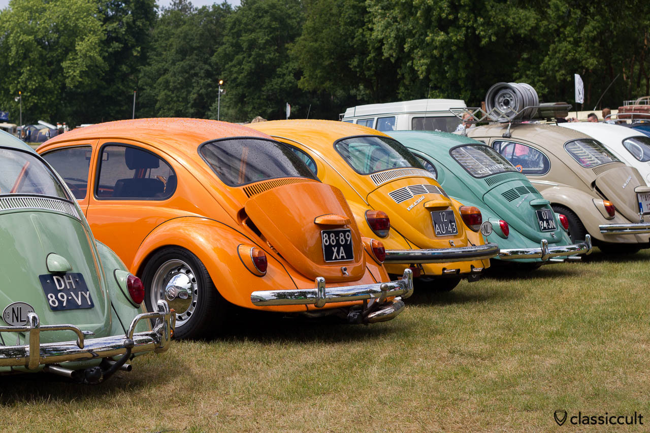 Custom Vintage Show VW Beetle Line-up at IKW 2013