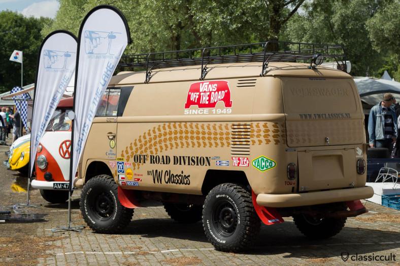 VW Panel Bus with VANS Advertisement