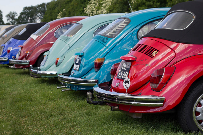VW Kever backside line-up at IKW Wanroij parking