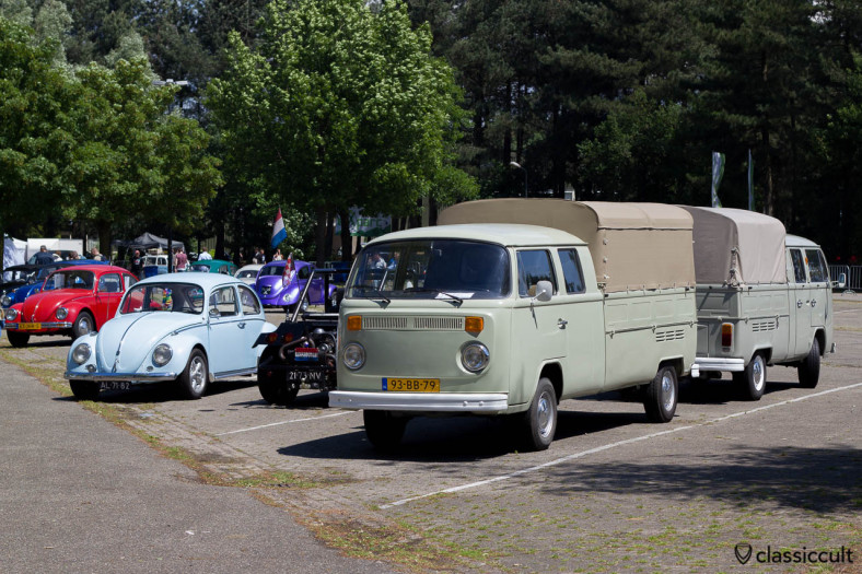 two VW Double Cab Buses, one Double Cab Bay Bus is longer