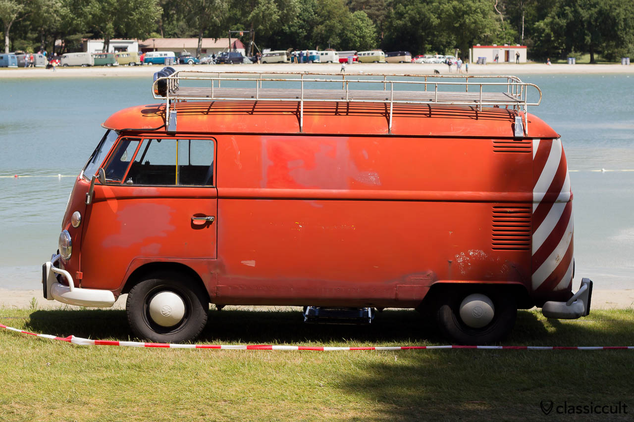 VW T1 Panel Van with roof rack