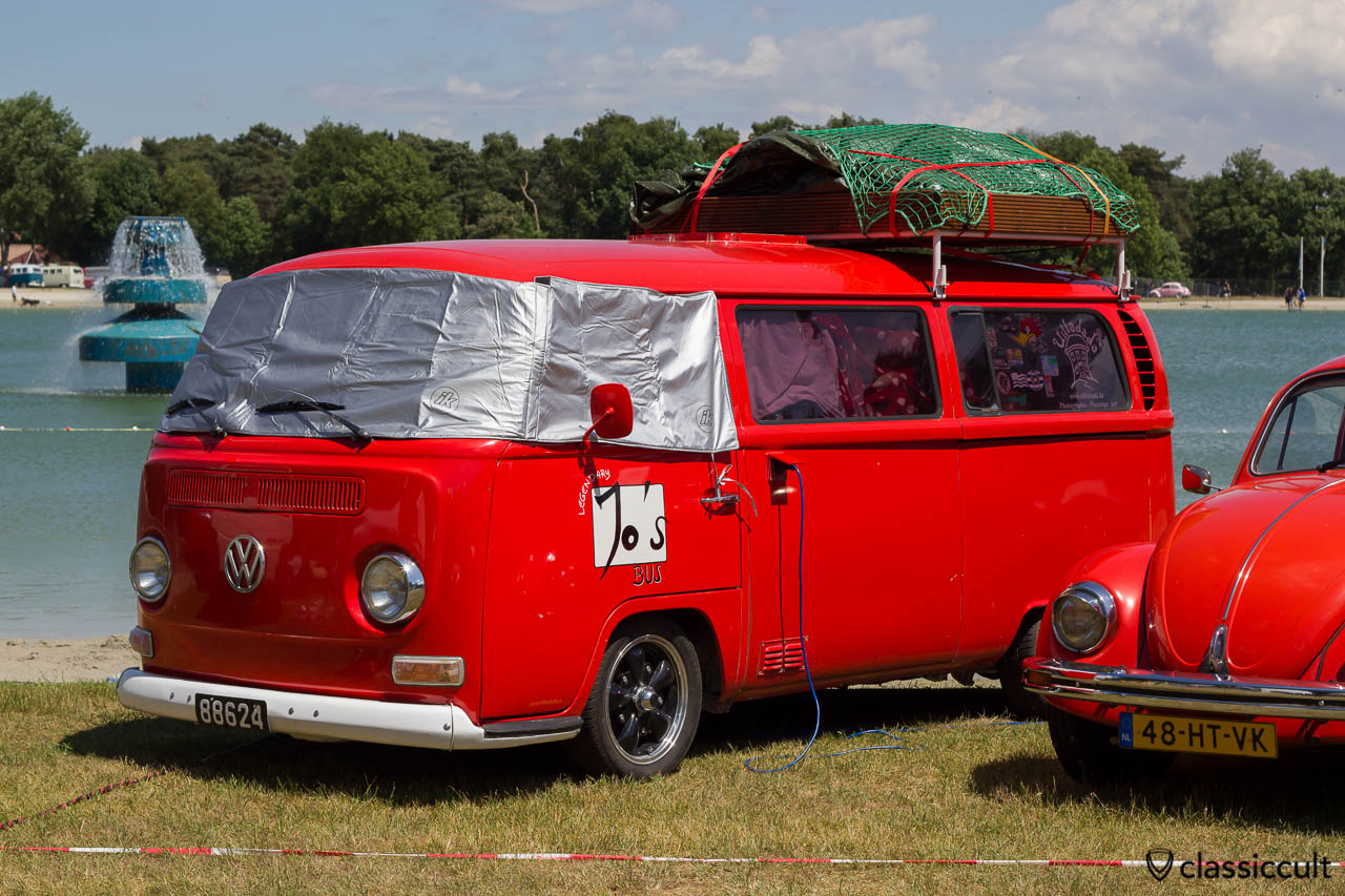 Volkswagen Van with roof rack