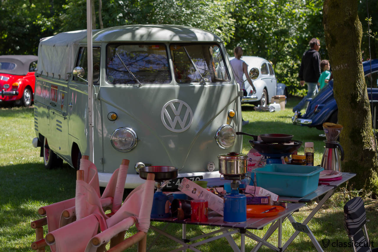 VW Split Single Cab and camping accessories