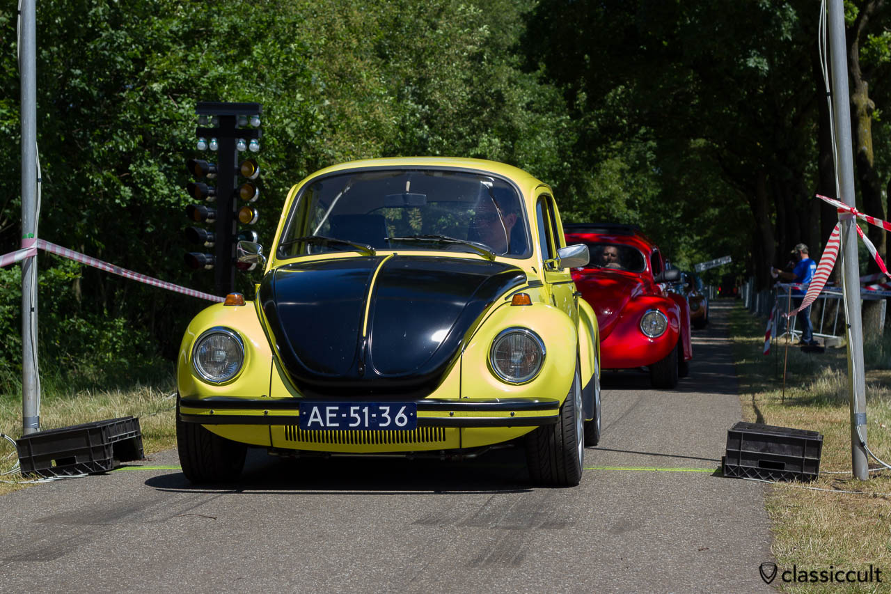 VW Racing Beetle gelb schwarzer renner at IKW Sprint 2013