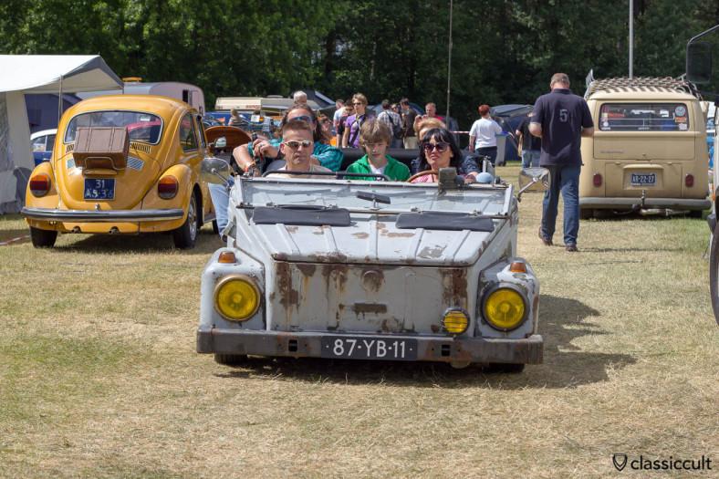 VW 181 with yellow headlights
