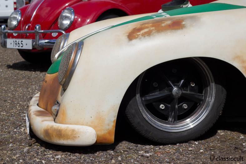 slammed Porsche 356 Police Car