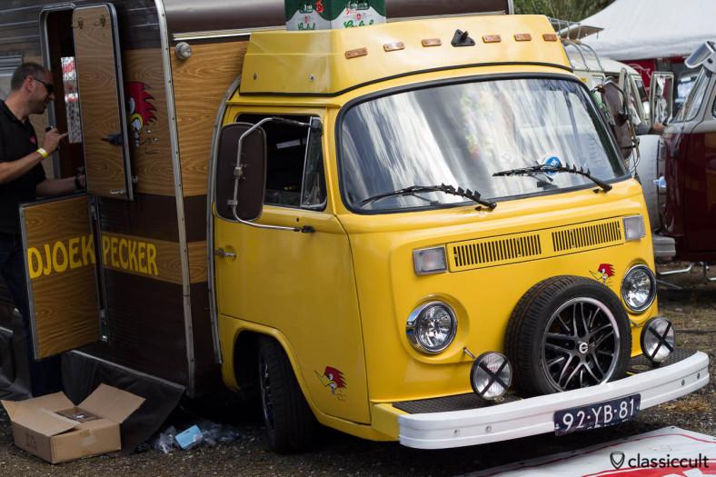 Custom VW Bay Bus with fog lights