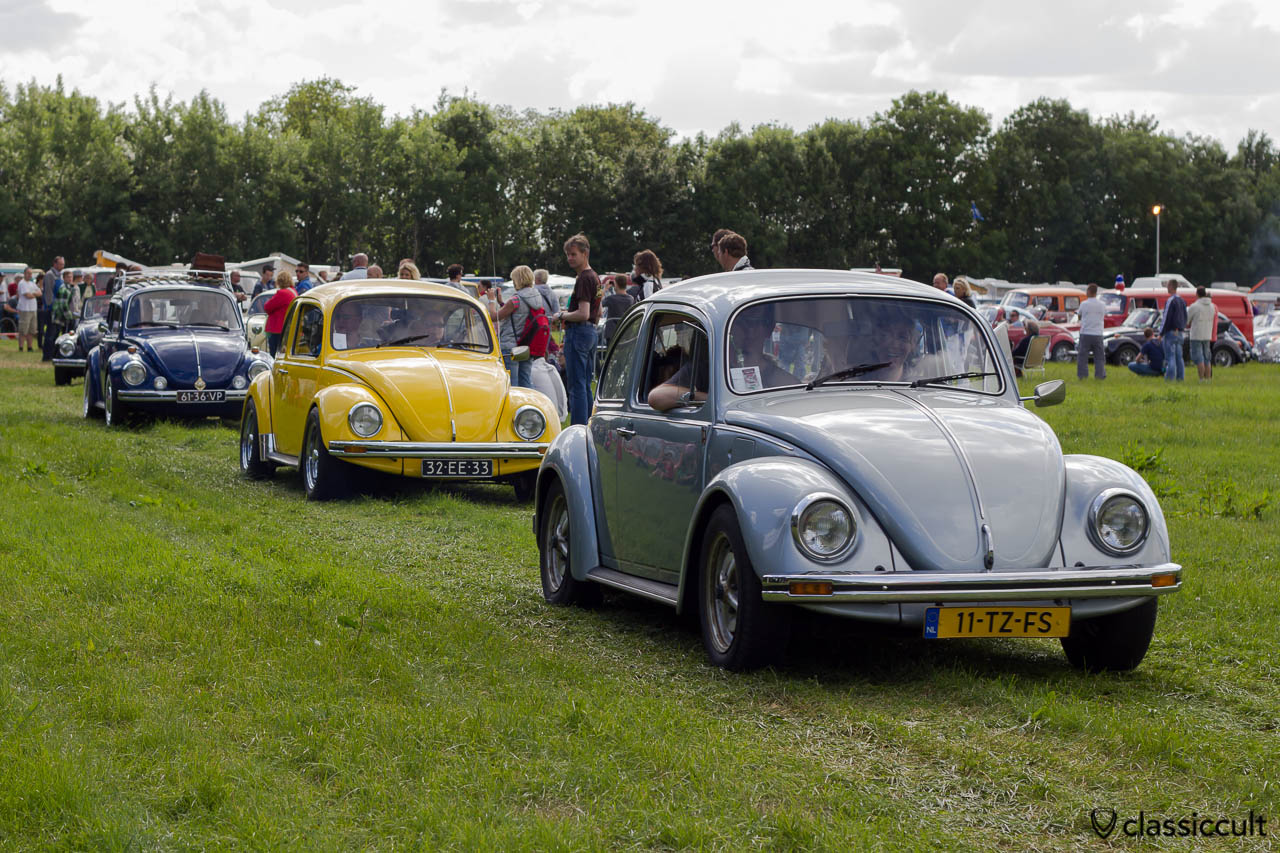 three VW Bugs leaving IKW aircooled parking