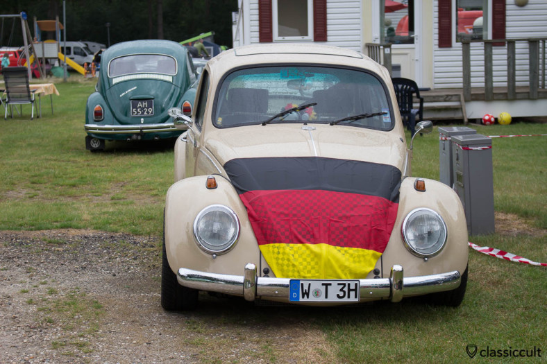german VW Beetle with sun roof